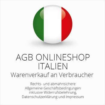 Abmahnsichere AGB Onlineshop Italien