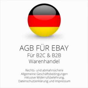 Abmahnsichere AGB für ebay B2C & B2B