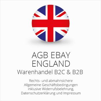 Rechtssichere AGB für ebay England B2C & B2B