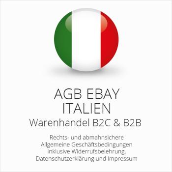 Abmahnsichere AGB für ebay Italien B2C & B2B
