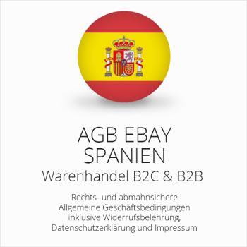 Abmahnsichere AGB für ebay Spanien B2C & B2B
