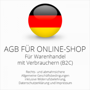 Rechtssichere AGB, widerrufsbelehrung & Datenschutzerklärung für einen Onlineshop
