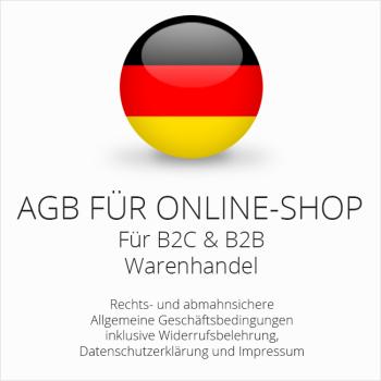 Abmahnsichere AGB für einen Onlineshop B2C & B2B