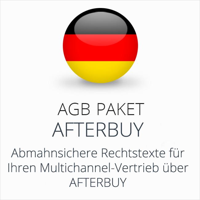 Das AGB Paket Afterbuy für abmahnsicheren Multichannel-Vertrieb