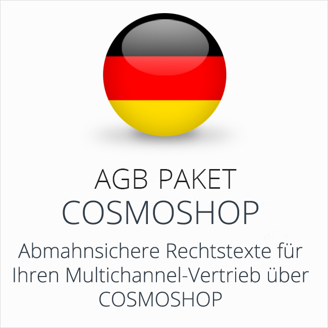 Das Multichannel-AGB-Paket CosmoShop