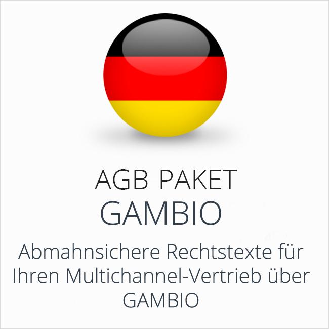Das rechtssichere Multichannel-AGB-Paket Gambio