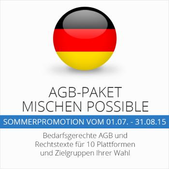 Das AGB-Paket Mischen Possible mit 10 abmahnsicheren AGB Ihrer Wahl