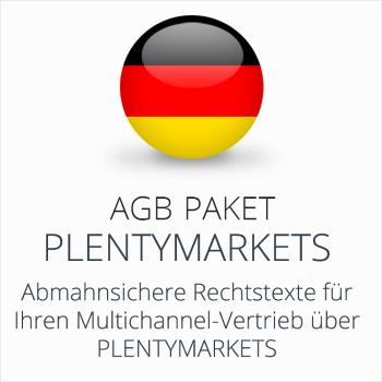 Das AGB Paket Plentymarkets mit abmahnsicheren Rechtstexten für Multichannel-Vertrieb über Plentymarkets