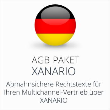 Das AGB Paket Xanario mit abmahnsicheren Rechtstexten für Multichannel-Vertrieb über Xanario