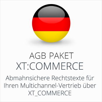 Das AGB Paket xtCommerce mit abmahnsicheren Rechtstexten für Multichannel-Vertrieb über xtCommerce